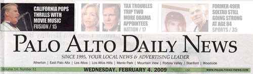 Palo Alto Daily Header Feb 4, 2009