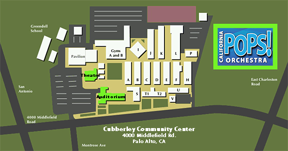 Cubberley Community Center Building Map