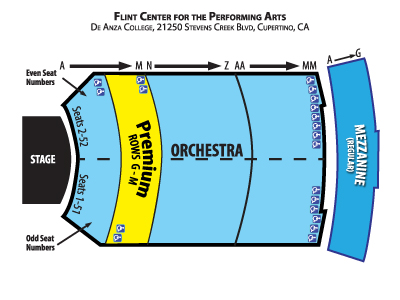 Flint Center Seating Diagram