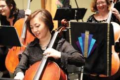 Cellist Rachel Xu, Sarah Gandt and Sara Styles